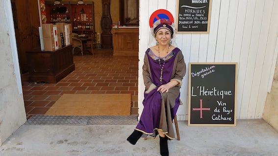 Dame Sabine aux journées médiévales de Vic