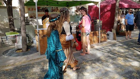 Sorbets coco aux fêtes médévales de Vic la Gardiole