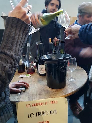 Salon des vins naturels ambiance