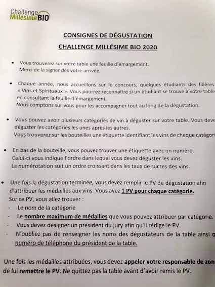 Millésime Bio 2020, le règlement du Challenge