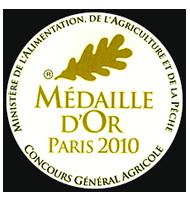 Médaille d'or Concours Général Agricole de Paris