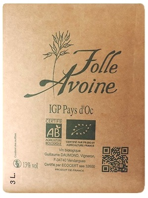 Bag in Box 3L Blanc Biologique