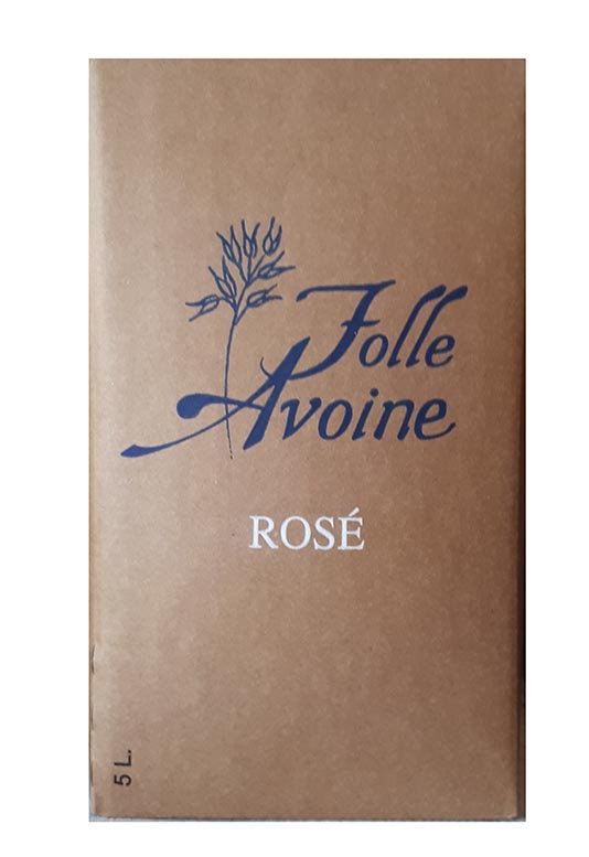 Bag in Box Rosé Bio Folle Avoine