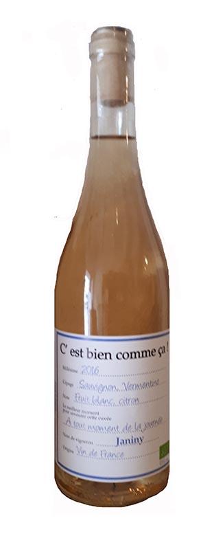 Vin blanc Bio C'est Bien Comme ça !!